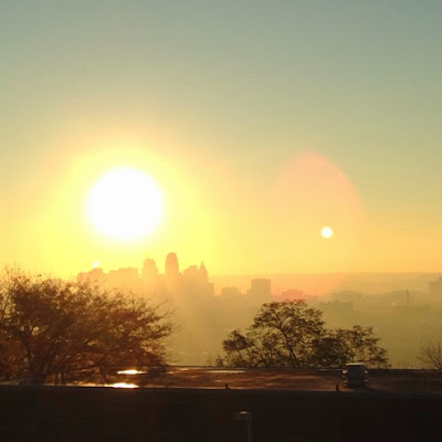 bright Cincinnati sunrise