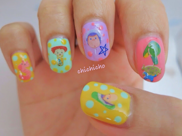 Toy Story Nail Art Water Decal Woody Buzz Lightyear alien rocket space ship cowboy Lots-o'-Huggin' Bear
