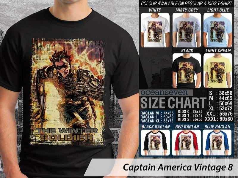 KAOS Captain America 8 Vintage distro ocean seven
