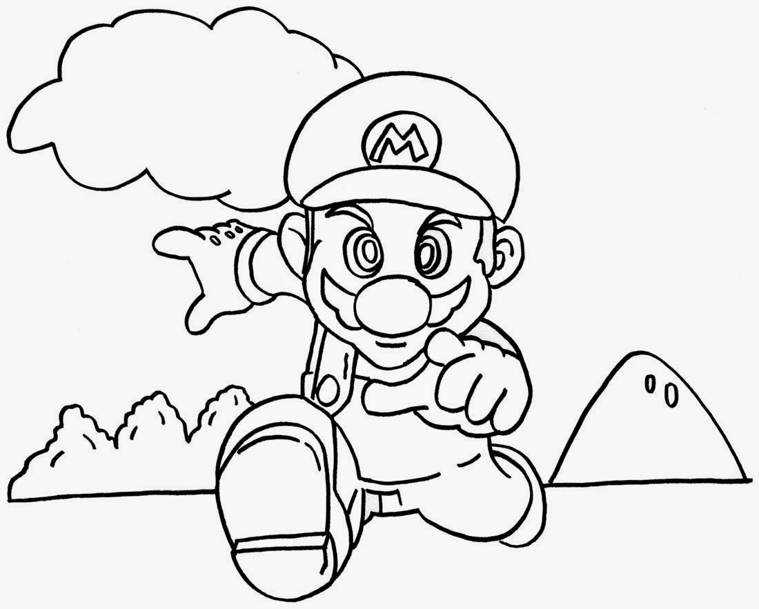 Super Mario Bros Colouring Book Retro Junk Article - mario bros coloring pages