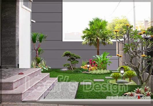 contoh foto cara membuat taman minimalis sendiri
