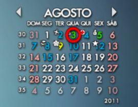 calendario rainlendar
