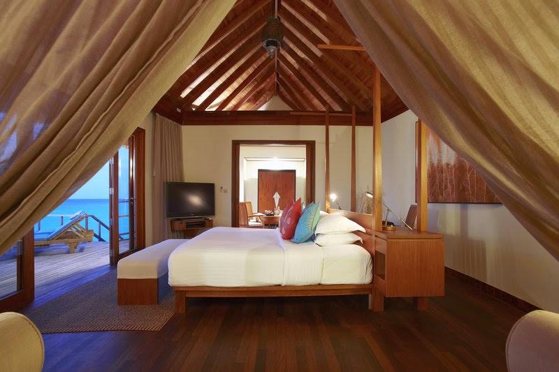 Anantara Dhigu Resort & Spa-日出水上屋睡房