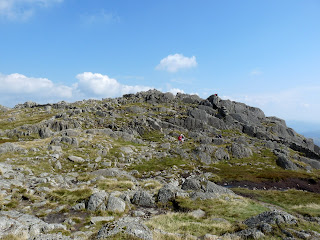 Looking back to Pavey Ark