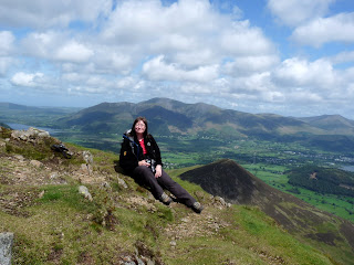 Jill on Causey Pike.