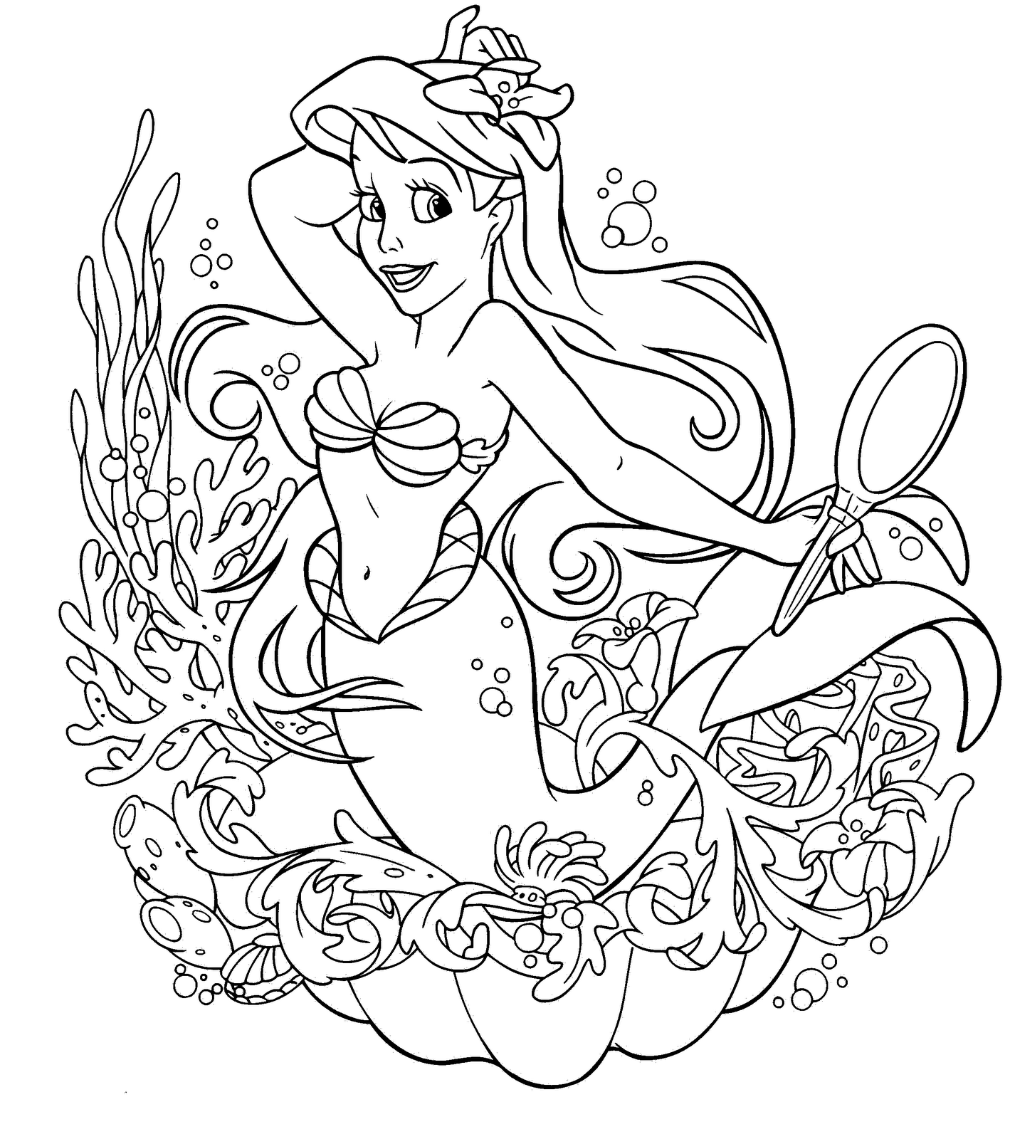 mermaid coloring pictures - The Little Mermaid coloring pages Free Coloring Pages