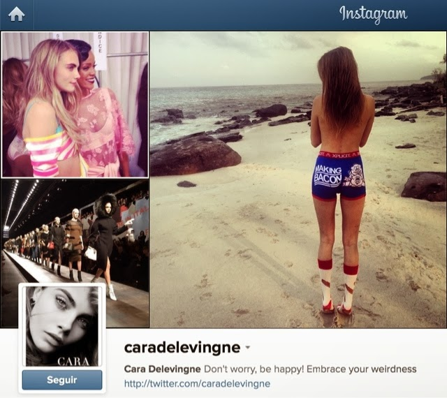 Instagram de modelos famosos