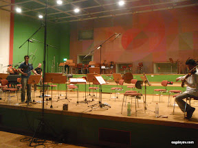 Break during the recording session at SRF