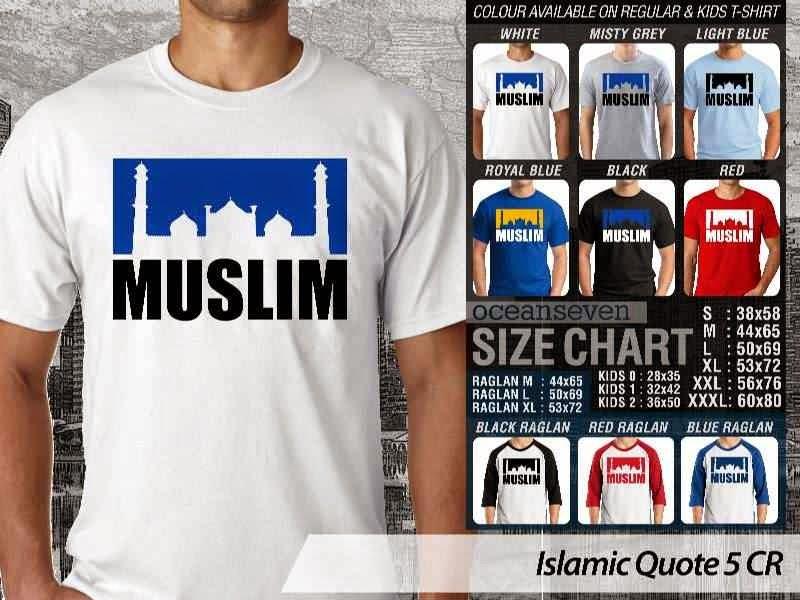 Kaos Muslim Keren Islamic Quote 5 Muslim distro ocean seven