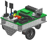 Description: picture of LEGO Boe-Bot. Action: Select (click) picture to view it enlarged.