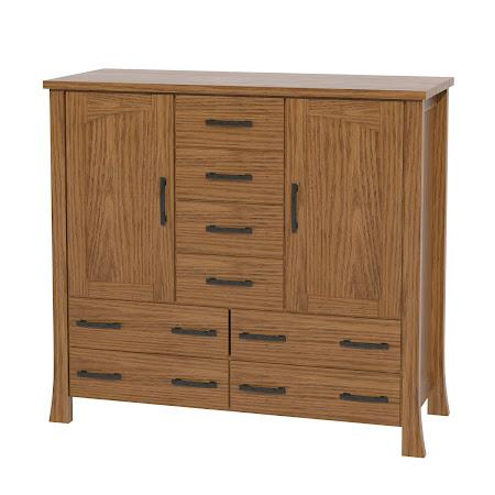 Matching Furniture Piece: Palermo Wardrobe Dresser, Medium Oak