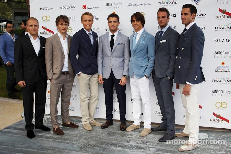 новички чемпионата Формулы-1 на Amber Lounge Fashion Show на Гран-при Монако 2013