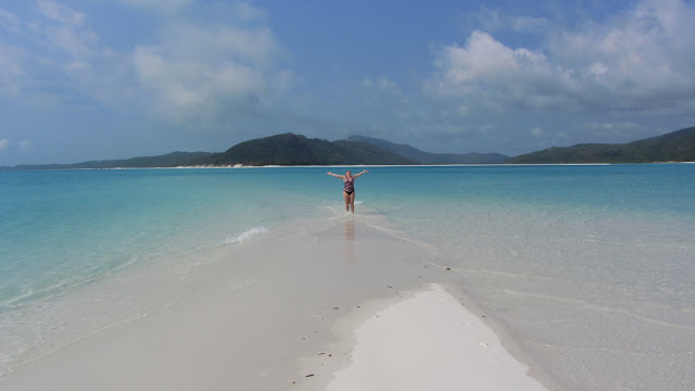 The blindingly-white Whitehaven Beach.