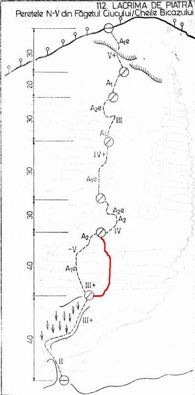 Cheile Bicaz - Lacrima de Piatra (5B, 4lc)