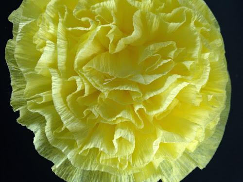 Crepe paper flower tutorial, crepe paper ruffle streamers, crepe paper decorations