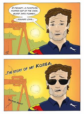 итория Марка Уэббера - комикс Stuart Taylor по Гран-при Кореи 2013