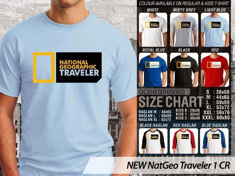 Kaos National Geographic NEW Nat Geo Traveler 1 distro ocean seven