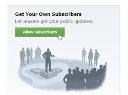 allow Facebook subscribers or disallow