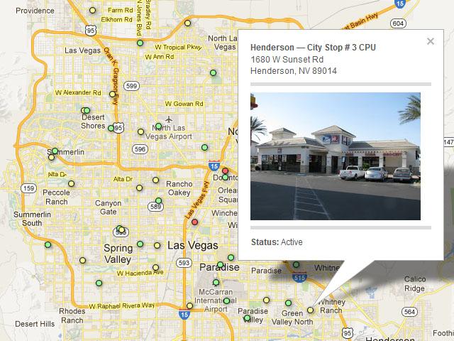 Las Vegas postal map