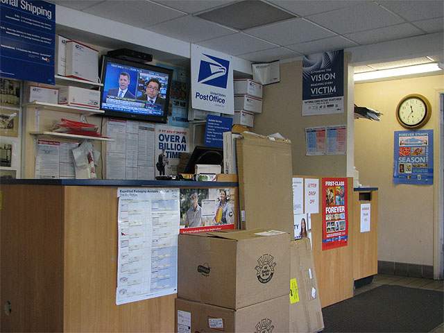 The Bay-Gull Store: postal counter
