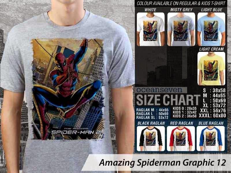 Kaos Film Superhero Amazing Spiderman Graphic 12 distro ocean seven