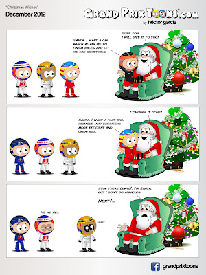 Рождественский комикс Christmas Wishes от Grand Prix Toons