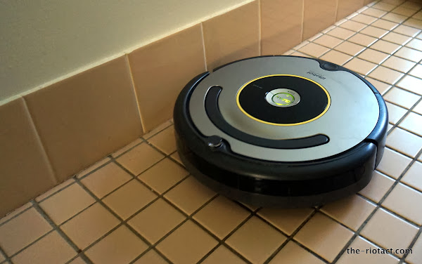 roomba on the tiles
