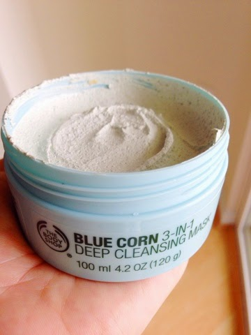 the body shop, blue corn mask