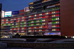 新宿・小田急百貨店窓面のクリスマスイルミネーション2014