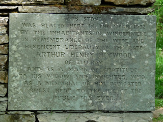 Plaque on wall on way to Orrest Head