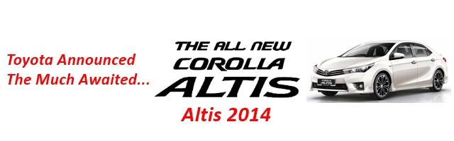 New Toyota Corolla Altis GRANDE 2014 Pakistan