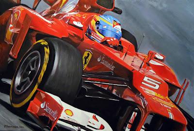 Фернандо Алонсо Ferrari F2012 - картина Roman Goloseev
