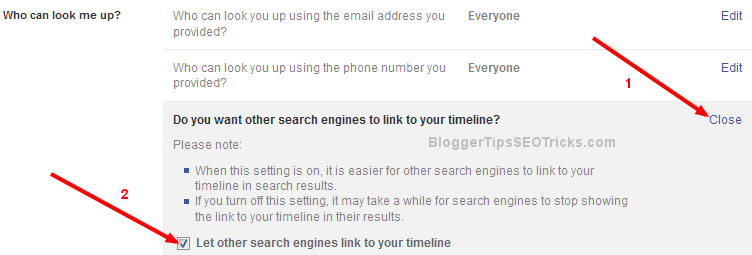 search engines link to your timeline