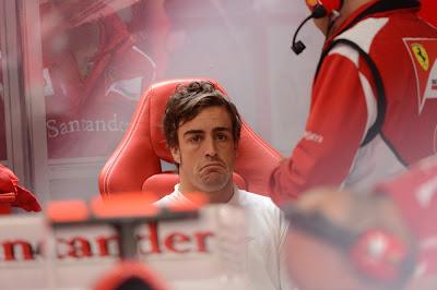 Фернандо Алонсо not bad в боксах Ferrari на Гран-при Германии 2012