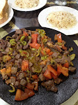 Lunch from Ankara to Cappadocia - beef with peppers and tomatoes