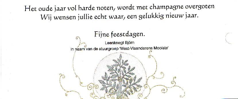 Onze nieuwjaarswensen voor u - West-Vlaanderens Mooiste vanuit ...