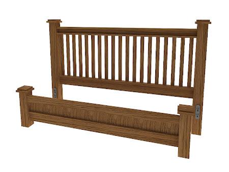 Prairie Platform Bed in Mahogany Oak
