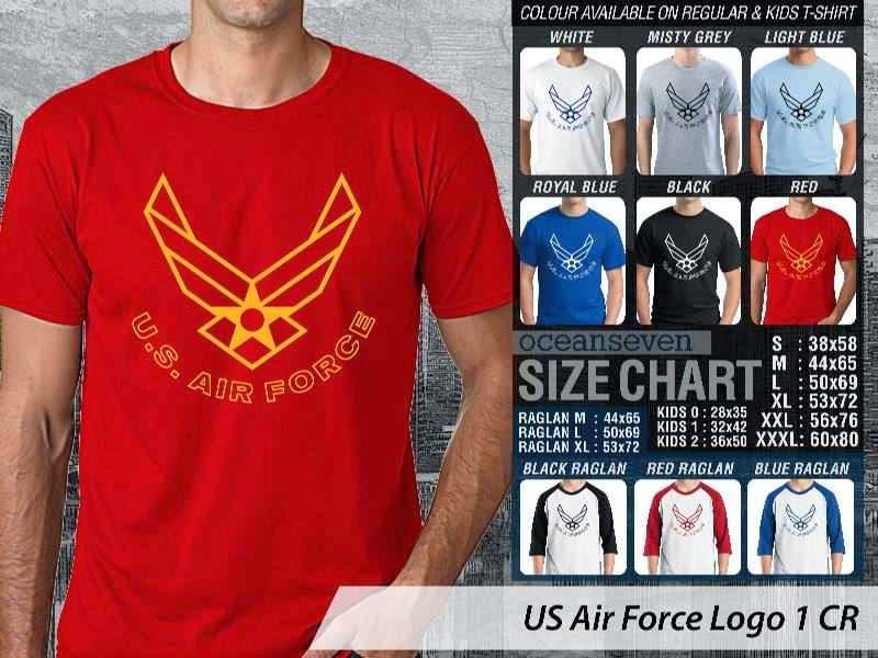 KAOS Militer US Air Force Logo 1 distro ocean seven