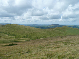 Lowthwaite Fell & Longlands Fell from descent of Brae Fell
