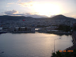 Kusadasi - view from our hotel room sunrise