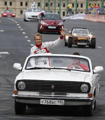 Макс Чилтон на Волге ГАЗ-24 на Moscow City Racing 2013