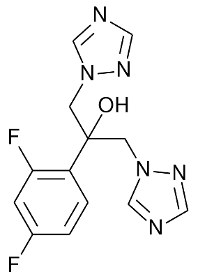 Structure Of Fluconazole