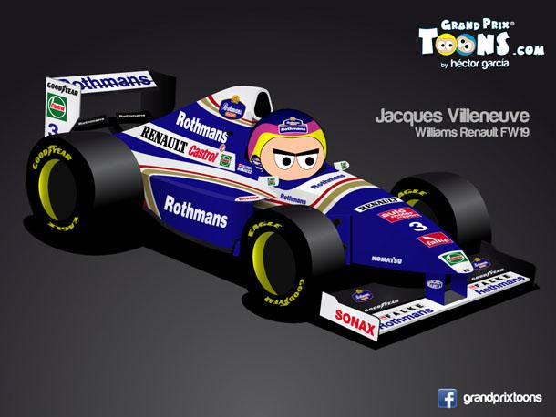 Жак Вильнев 1997 Williams FW19 Grand Prix Toons