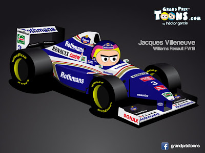 Жак Вильнев 1997 Williams FW19 Grand Prix Toons