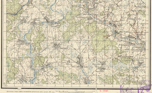 Russian old map N-36-75-B-sued