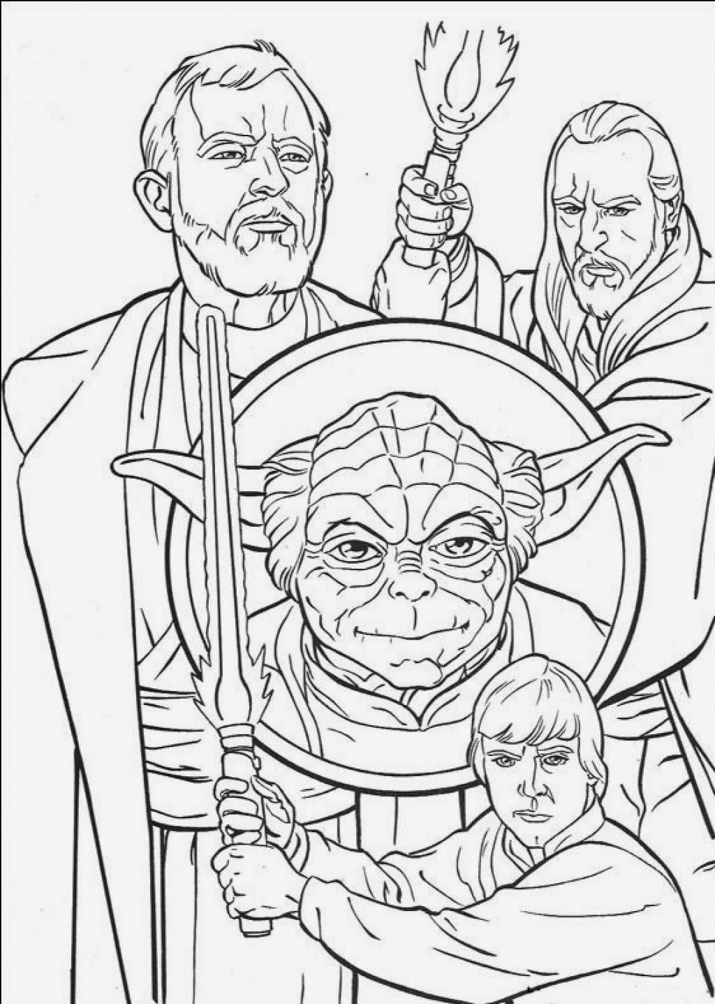 Coloring Pages Clone Wars Drawing Morning Kids!