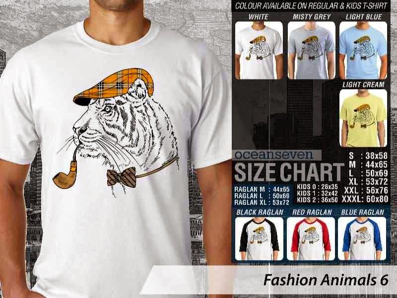 Kaos Fashion Animals 6 Binatang Singa Lion distro ocean seven