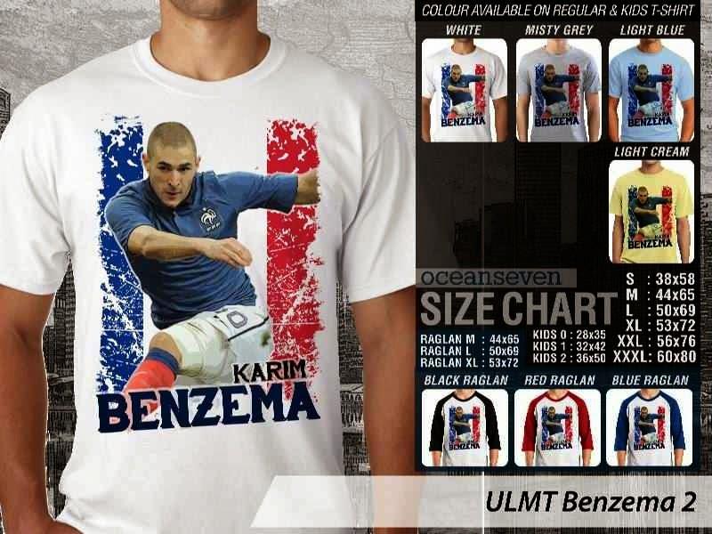 Kaos bola Karim Benzema Benzema 2 distro ocean seven
