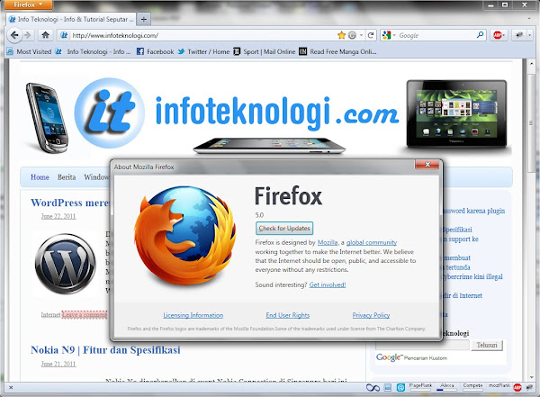 Mozilla Firefox 5 Screenshot