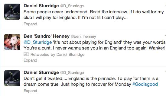 Screen+Shot+2013 09 10+at+13.22.49 Liverpool striker Daniel Sturridge Tweets denial over its not about England comment